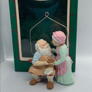 Vintage Hallmark Ornament - Mr And Mrs Santa